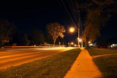Night. Guelph. (welchdan) Tags: street light car night slow guelph shutter