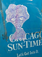 you can feel it in your mind (silverfuture) Tags: streetart chicago pasteup sticker grafitti logansquare newspaperbox zor chicagosuntimes 2312 letsgetintoit zorzorzor allgarbageanyway