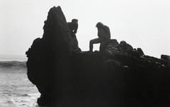 La Piedra, January 2012 (Jason Lester Photography) Tags: california ca blackandwhite bw film beach 35mm trix malibu coastline westcoast fujidiscovery thomaspereira lapiedrastatebeach aronchilewich