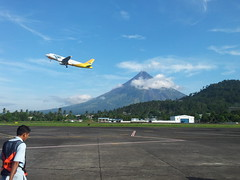 The Majestic Volcano (Philippine Fly Boy) Tags: flying airport aircraft aviation jet takeoff bicol pilot mayonvolcano cebupacific legazpicity