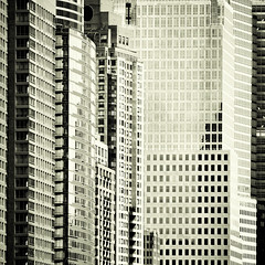 downtown (fotobananas) Tags: nyc urban newyork glass architecture skyscraper square concrete downtown manhattan steel metropolis wallstreet wolkenkratzer fotobananas