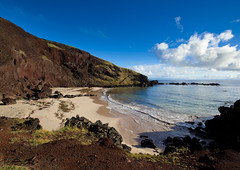 Ovahe Beach, Easter Island, Chile (Eric Lafforgue) Tags: chile sea summer color colour beach latinamerica southamerica water horizontal creek island sand chili day pacific nobody nopeople worldheritagesite pacificocean tropical easterisland colorphoto rapanui isladepascua hangaroa southpacificocean   ili  polynesianisland 6948   ovahebeach ile    southeasternpacificocean polynesiantriangle chileanpolynesia