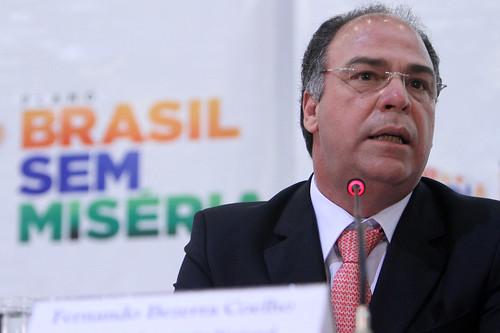 31.05.2012 (Brasilia/DF) - Ministro Fernando Bezerra Coelho participou, nesta quinta-feira, de entrevista coletiva para apresentar balanço do 1º ano do Plano Brasil Sem Miséria.