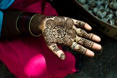 Flower Henna (B.Bubble) Tags: india colors design hands fingers henna bodyart mehndi gujarat
