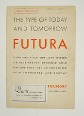 1930's Futura Specimen Booklet (Herb Lubalin Study Center) Tags: