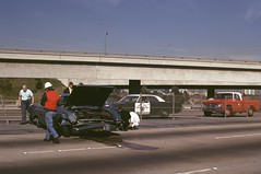 Traffic Accident East Bound 10 FWY at the I 405 January 1972