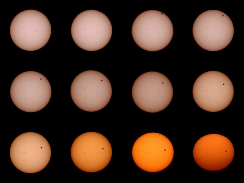 Transit of Venus 2012 progression