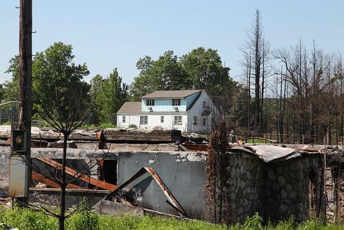 Levinson House siding damage