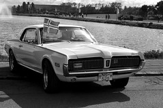 (Steini789) Tags: bw car blackwhite cool pond automobile mercury parked cougar 17jn icelandicflag jhtardagur