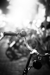 Nine Million Bicycles (ingephotography) Tags: travel bw white black bike bicycle leiden bokeh katie bicycles zwart wit fietsen fiets zw melua
