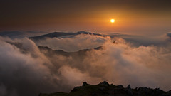 Snowdon Sunrise [Explore Jun 27th 2012] (Adam BStar) Tags: sky cloud sunrise landscape high altitude low snowdon inversion temperature snowdonia