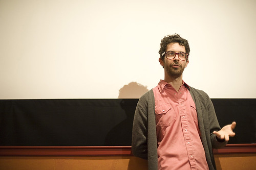 Director Ido Fluk at a screening of Never Too Late at the Filmhouse