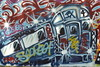 Urban mural detail: bus.Smithsonia…