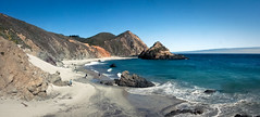Pfeiffer State Park (Benzadrine) Tags: ocean california blue panorama beach cali composite sand aqua waves pacific bigsur pfeifferstatepark