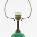 1051. 1920s Czech. Malachite Cameo Lamp