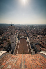 Florence from atop the Duomo (cmozz) Tags: italy panorama canon florence dusk 5d duomo