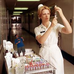 iggy and nurse 2 (iggy62pop2) Tags: sexy hospital dominate medical torture syringe nurse inject giantess gts shrink shrinking ferish shrinkingman