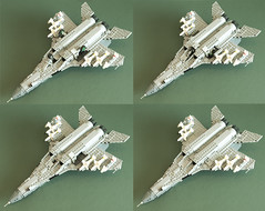 MiG-35 SMT landing gear (Aleksander Stein) Tags: west model fighter lego russia near military future upgrade smt fulcrum multirole fictitious mig35