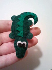 Gary the Gator Magnet (msmegas) Tags: cute green kitchen animal stuffed handmade gator reptile crafts small decoration alligator felt plush plushie crocodile handsewn decor magnet sewn