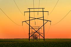 Lines (Harry2010) Tags: red canada power pole saskatchewan prairies canola