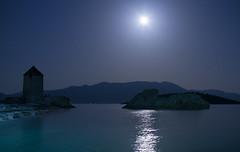 Greece (hath) Tags: ocean longexposure summer moon seascape travelling beach nature windmill night landscape island long exposure greece sigma30mm