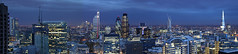 London Panorama (david.bank (www.david-bank.com)) Tags: city uk england urban panorama london tower heron canon twilight europe dusk barbican bluehour shard gherkin tower42 density davidbank