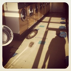 The photographer's shadow (Flamenco Sun) Tags: london vintage ham richmond retro kingston laundry laundromat launderette urbanlandscape laundrette londoner londonist