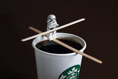 Stuntrooper 208/366 ([inFocus]) Tags: coffee canon star starwars lego year creative starbucks 7d stormtrooper tightrope wars 365 trick minifig product tabletop stunt 2012 highwire minifigure lastolite speedlite 366 snoot 24105mm honl strobist charlesblondin ezybox project366