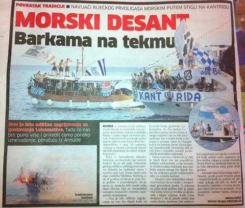 Barkama na tekmu (Novi List, 28.07.2012)