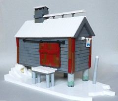 Fishery Cannery (.) Tags: winter fish snow frozen fishing lego crab lobster shack buoys floats canning
