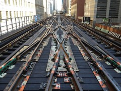Washington Crossover (cta web) Tags: railroad cta loop tracks railway frog rails elevated switches crossover trackpoints