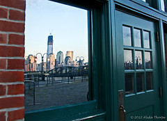 freedom reflections (Alida's Photos) Tags: nyc reflection newjersey jerseycity sailing hudsonriver nyharbor freedomtower centralrailroad