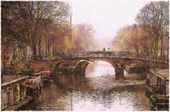Amsterdam canals (Beaches Marley) Tags: paintfx ipad amsterdam canal empressa