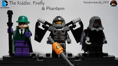 The Riddler, Firefly & Phantasm (Random_Panda) Tags: lego fig figs figures figure minifig minifigs minifigure minifigures characters character dc comics superhero superheroes hero heroes super comic book books batman riddler the firefly phantasm