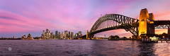 Two moments in time (Brian Bornstein) Tags: harbourbridge water sydneyoperahouse sydneyharbour sydneyharbourbridge bluehour sydneycity kirribilli brianbornstein nsw sunset cityscape sydney canon6d harbour clouds