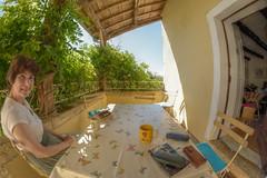 Snapshot (Tony Tooth) Tags: nikon d7100 samyang 8mm fisheye holiday balcony snapshot duravel cahors france morning hdr