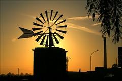 Windmills - Mallorca (M.G.N. - Marcel) Tags: picmonkey molino chimenea farolas postes arboles nubes siluetas