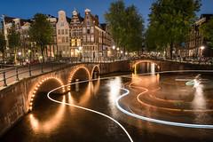 Amsterdam nights [Explored] (Sunny Herzinger) Tags: travel architecture historic netherlands europe amsterdam fujixpro2 noordholland nl night bridge canal