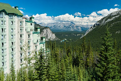 View from the Rimrock (Erik Pronske) Tags: rimrockresorthotel banffnationalpark resort canadianrockies rockymountains banff mountains view canada trees nationalpark alberta clouds