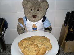 #GBBO week 2: Who licked the icin' off me biscuits??? (pefkosmad) Tags: greatbritishbakeoff gbbo bbc1 programme television telly tv baking cookery bakery cooking maryberry paulhollywood tedricstudmuffin ted teddy bear cookies chocolate coconut cute stuffed toy soft plush fluffy kitchen england uk week2