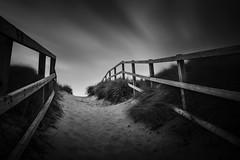 Sea Palling 20/08/2016 (Matthew Dartford) Tags: bw eastanglia beach bokeh coast longexposure mono monochrome movment norfolk path pathway sand seapalling sky