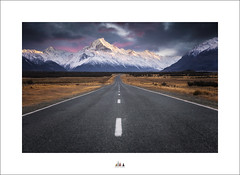 I Will Look Back On This Moment And Smile ... Because It Was Life ... And I Decided To Live It ... (Maxwell Campbell) Tags: nz newzealand mtcook southisland mountains road landscape snow sunrise