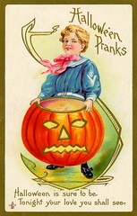 Halloween PranksYou Shall See Your Love Tonight (Alan Mays) Tags: ephemera postcards greetingcards greetings cards paper printed halloween holidays october31 jackolanterns pumpkins pranks halloweenpranks children girls clothes clothing sailorsuits sailors fortunetelling games divination fortunes rituals customs love borders rhymes illustrations orange gold blue pink 1911 1910s antique old vintage typefaces type typography fonts stecherlithographiccompany stecherlithographicco stecher slc postcardpublishers lithographers 226f series226f postcardseries