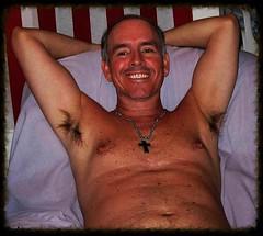 Monte 8 30 2010 (Monte Mendoza) Tags: armpits pits underarms ua axila smile shirtless cross