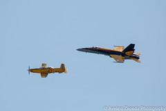CF-18 Hornet Demo and CT-156 Harvard II (Avelino Zepeda) Tags: canadianinternationalairshow canadianairshow torontoairshow cias toronto harbourfront cf18 cf188 rcaf royalcanadianairforce canadianairforce cf18demoteam cf18demo canadianf18 f18 hornet ct156harvardii rcaftrainer harvardiitrainer trainer