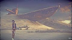 Stuck in the Desert (alexandra wardark) Tags: subtlefogvogue adventures apocalyptic desert fantasy secondlife sl submarine