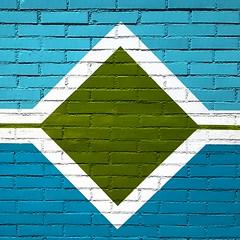 -<>- (carlini.sonia) Tags: sonia muro mattoni linee linea diagonali bianco verde azzurro