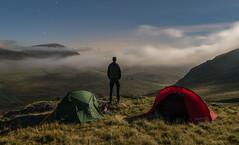 'Ogwen Moonlight Mists' - Snowdonia (Kristofer Williams) Tags: snowdonia landscape moon moonlight night nightscape wildcamp tent camp portrait selfie ogwenvalley mist cloud wales mountains