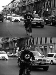 [La Mia Citt][Pedala] (Urca) Tags: milano italia 2016 bicicletta pedalare ciclista ritrattostradale portrait dittico bike bicycle nikondigitale mir biancoenero blackandwhite bn bw 88991