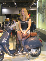 Eicma promo girl (themax2) Tags: eicma model nylon promoter milano 2005 girl hostess boots pantyhose blondie